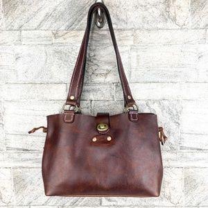 Kodiak Pink Stitch Bucket Shoulder Bag